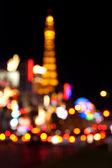 Abstracte onscherpe achtergrond van eiffeltoren op las vegas strip — Stockfoto
