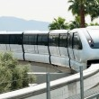 Monorail arriving to the station on the Las Vegas Strip — Stock Photo