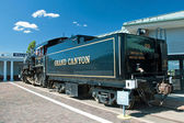 Historical stream locomotive in Grand Canyon National Park — Stock Photo