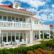 Luxury american dream beach summer house — Stock Photo