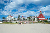 Victorian Hotel del Coronado in San Diego — Stock Photo