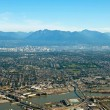 Aerial view of Vancouver downtown city in British Columbia with — Stock Photo