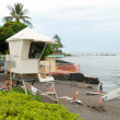 Lifeguard tower on Kona beach on Hawaii — Stockfoto