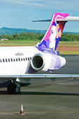 Plane at Hilo International Airport waiting for a boarding — Stock Photo