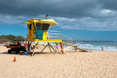 Lifeguard tower on Big beach Maui Hawaii — Stock Photo