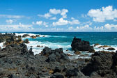 Volcano rocks on beach at Hana on Maui Hawaii — Stock Photo