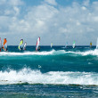 Windsurfers in windy weather on Maui Island — Stock Photo #48959937