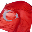Turkish flag in the wind — Stock Photo