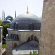 View from the Hagia Sophia to blue mosque in Istanbul Turkey. — Stock Photo