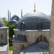 View from the Hagia Sophia to blue mosque in Istanbul Turkey. — Stock Photo #12315484