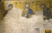 Byzantine mosaic icon in Hagia Sophia in Istanbul, Turkey. — Stock Photo