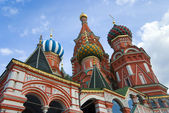 St Basil's Cathedral on the red Square Moscow. Russia. — Stock Photo