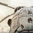 Old Soviet military helicopters — Stock Photo