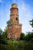 Abandoned bell tower in Yaropolec, Russia — Foto Stock