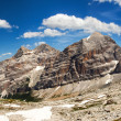 Panoramic view of Dolomiti - Group Tofana - Stock Photo