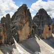 Alpine dolomiti - Tre Cime mountain - Stock Photo