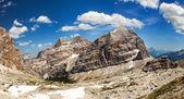 Panoramic view of Dolomiti - Group Tofana — Stock Photo