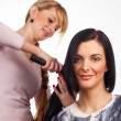Hairdresser working with a client  — Stock Photo