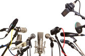 Conference meeting microphones prepared for talker — Stock Photo