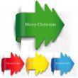 Set of arrows in the form of Christmas trees — Stock Vector #14724559