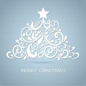 Kerstboom. vectorillustraties — Stockvector