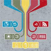 Infographics in retro style — Stock Vector
