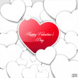 Valentine's day or Wedding vector background with hearts. — Stock Vector