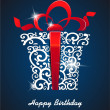 Royalty-Free Stock Vector Image: Greeting card Happy Birthday. with gift box and place for your text. vector