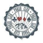 Poker Club stamp. Vector illustration — Stock Vector
