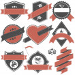 Royalty-Free Stock Vector Image: Abstract set of vector stamps with an empty place for the text