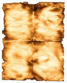 烧焦的纸 — 图库照片