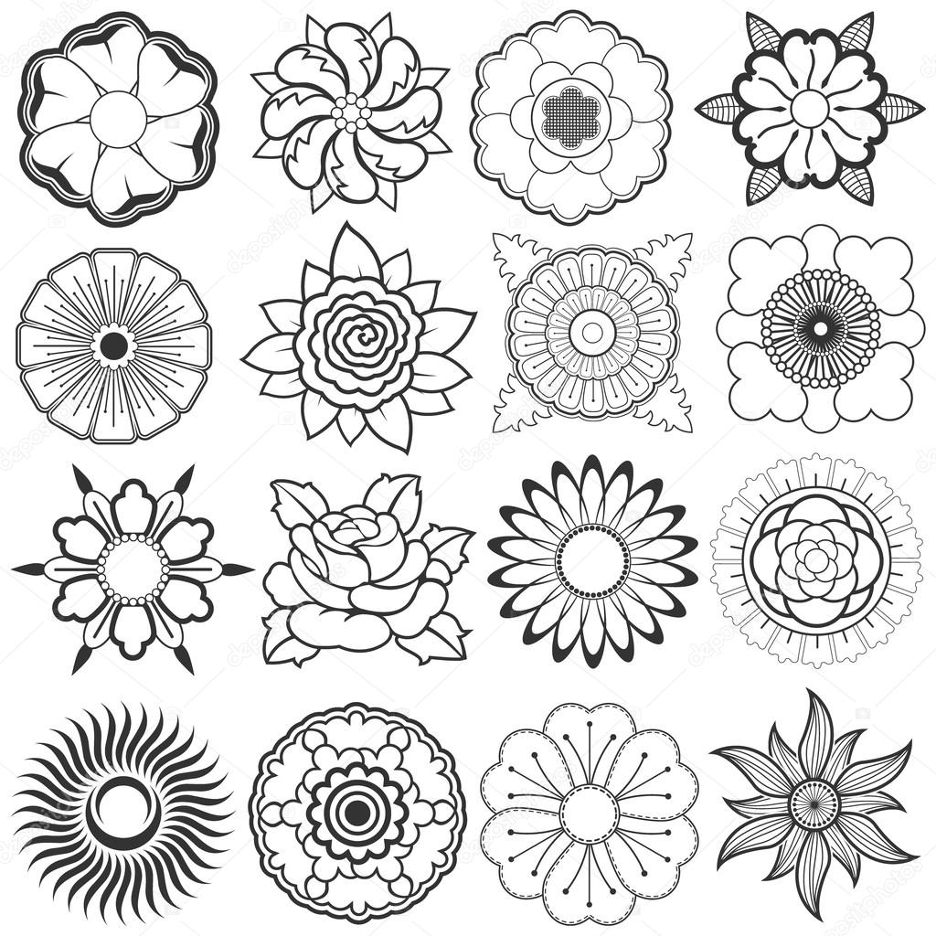 how to draw many different flowers