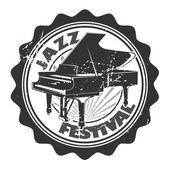 Jazz Festival Stamp — 图库矢量图片
