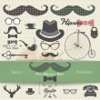 Hipster vector elements. — Stock Vector