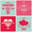 Valentine's Day greeting card in retro style — Stock Vector #38553579