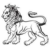 Hanedan aslan. vektör. — Stok Vektör