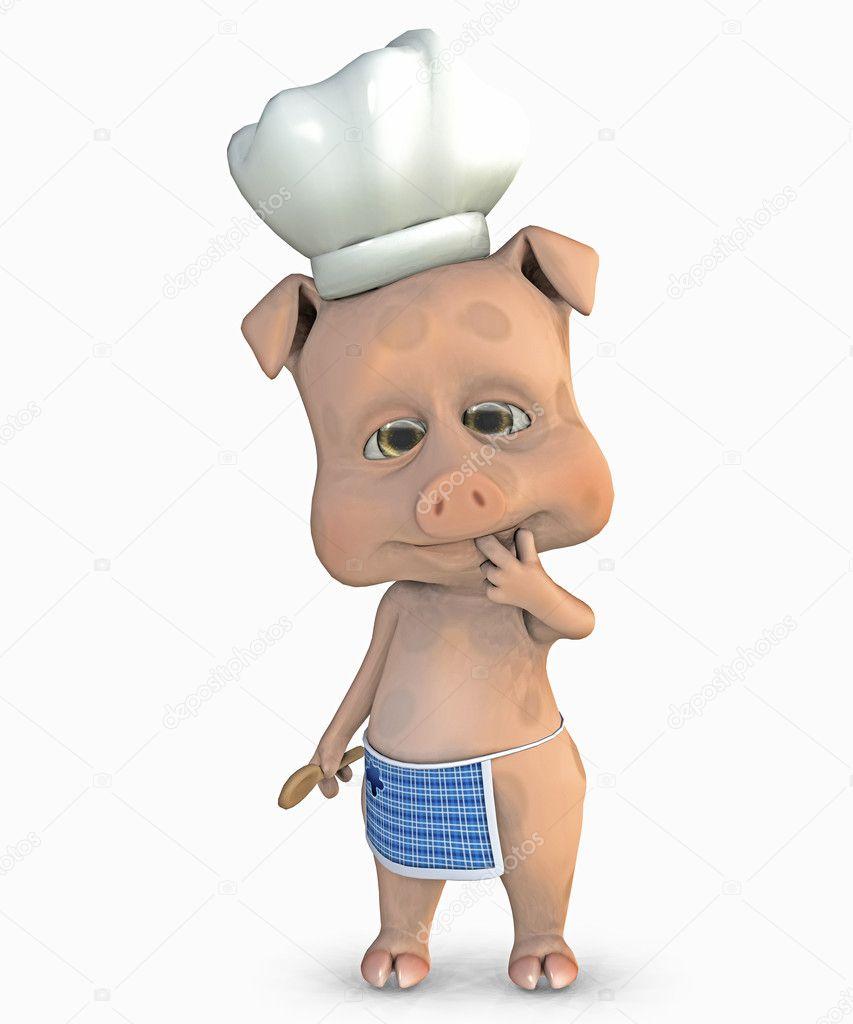 可爱的小猪-做饭