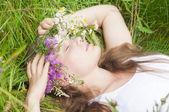 Snící dívka — Stock fotografie