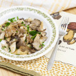 Fried oyster mushroom - Stock Photo
