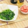 Salad from sea cabbage - Stock Photo