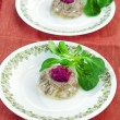 Aspic with beetroot horseradish — Stock Photo