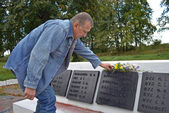 At a memorial to the lost veterans. — Stock Photo