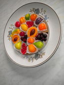 Fruit fruit jelly in a plate — Stock Photo