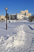 In the center of Slutsk. Belarus. January, 2013. — Stock Photo
