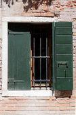 Aged windows — Stockfoto