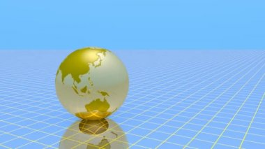Gold globe — Stock Video