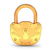 Gold Padlock — Stock Photo