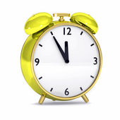 Yellow alarm clock — Stock Photo