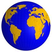 Globe earth — Stock Photo