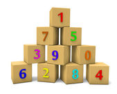 Numbered cubes — Stockfoto